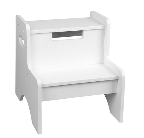Classic Kids White Two Step Stool