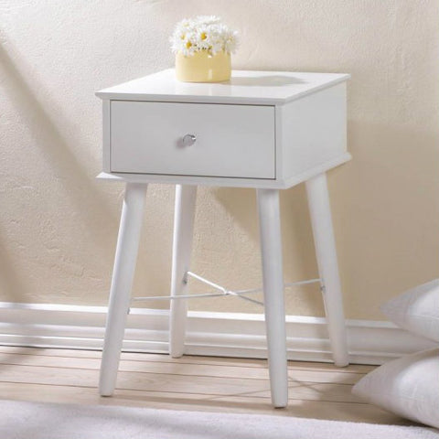 Classic Mod White Side Table