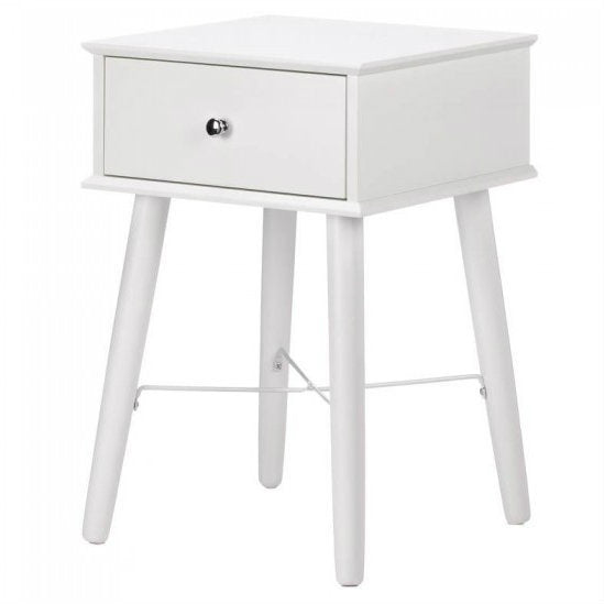 White Classic Mod Side Table