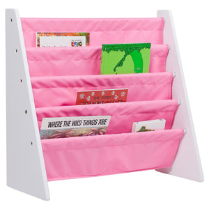 Classic White and Pink Sling Bookcase