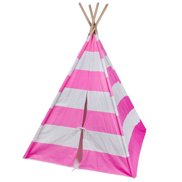 Classic Stripped Kids Teepee - Pink and White