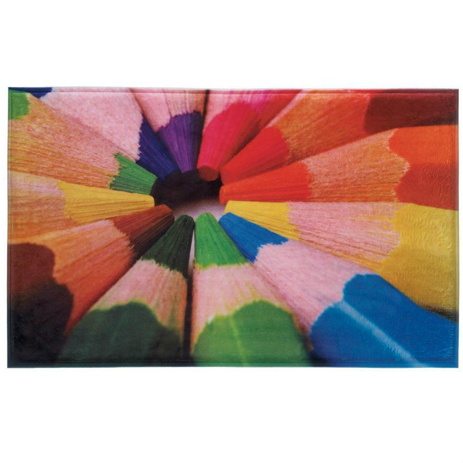 Colored Pencils Floor Mat