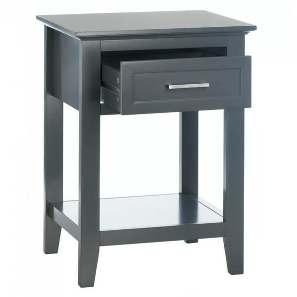 Crosstown Traditional Gray Wood Side Table