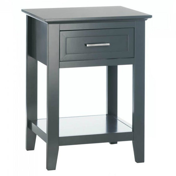 Gray Crosstown Traditional Wood Side Table