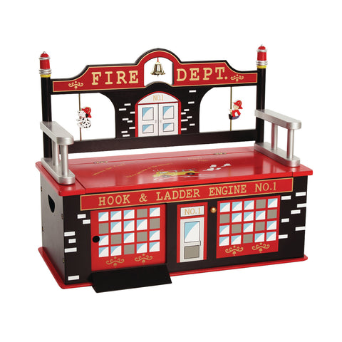 Firefighter Bench Seat with Storage
