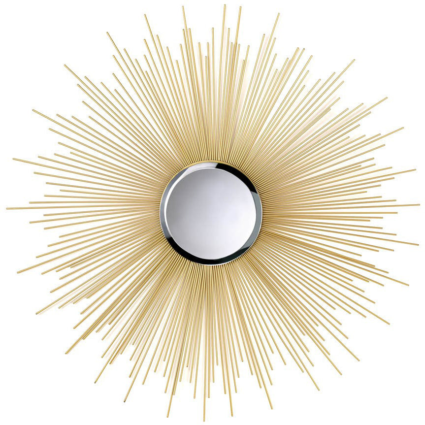 Golden Sunburst Wall Mirror