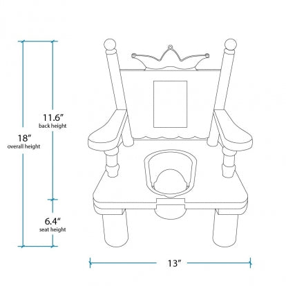 Royal Princess Potty Chair
