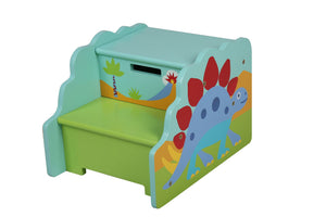 Kids Dinosaur Storage Step Stool
