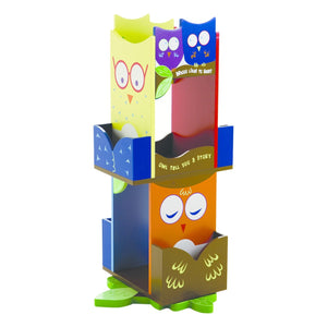 Kids Owls Revolving Bookcase