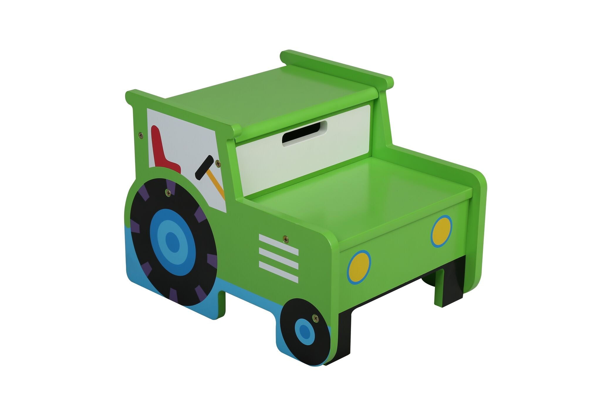 Kids Tractor Storage Step Stool