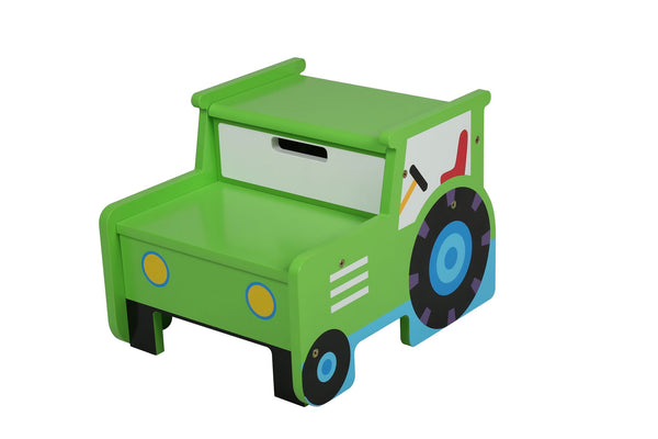 Kids Tractor Step and Store Stool