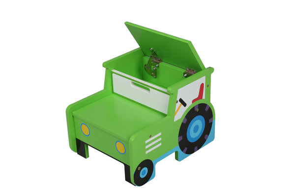 Kids Tractor Storage and Step Stool