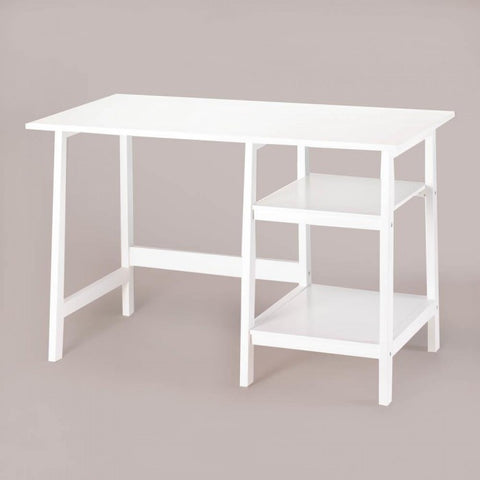 Minimalist White Workstation Desk