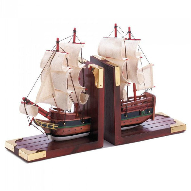 Model Ship Bookend Set