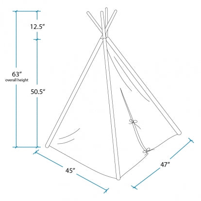 Classic Stripped Kids Teepee
