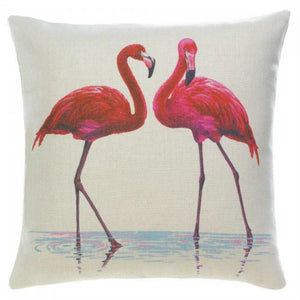 Pink Flamingos Decorative Throw Pillow
