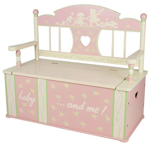 Rock A Bye Baby Pink Bench Seat with Storage