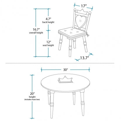 Royal Princess Table & Chairs Set