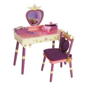 Royal Princess Vanity Table and Chair Set