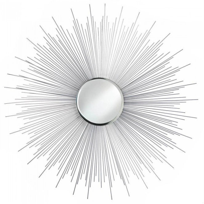 Silver Sunburst Wall Mirror