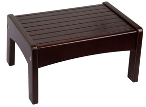 Espresso Slatted Kids Step Stool