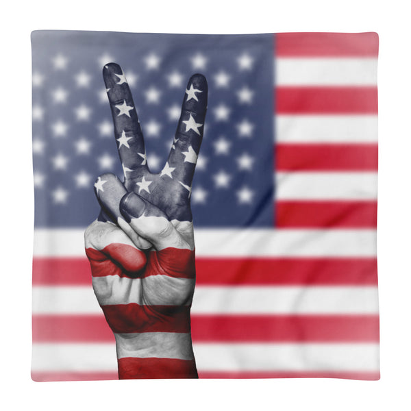 Proudly Patriotic Pillow Cover only