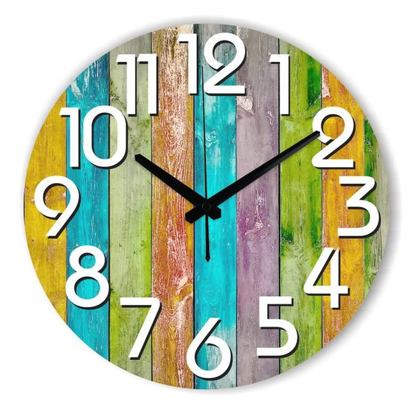 Modern Multi-colored Decorative Wall Clock (multiple sizes & styles)
