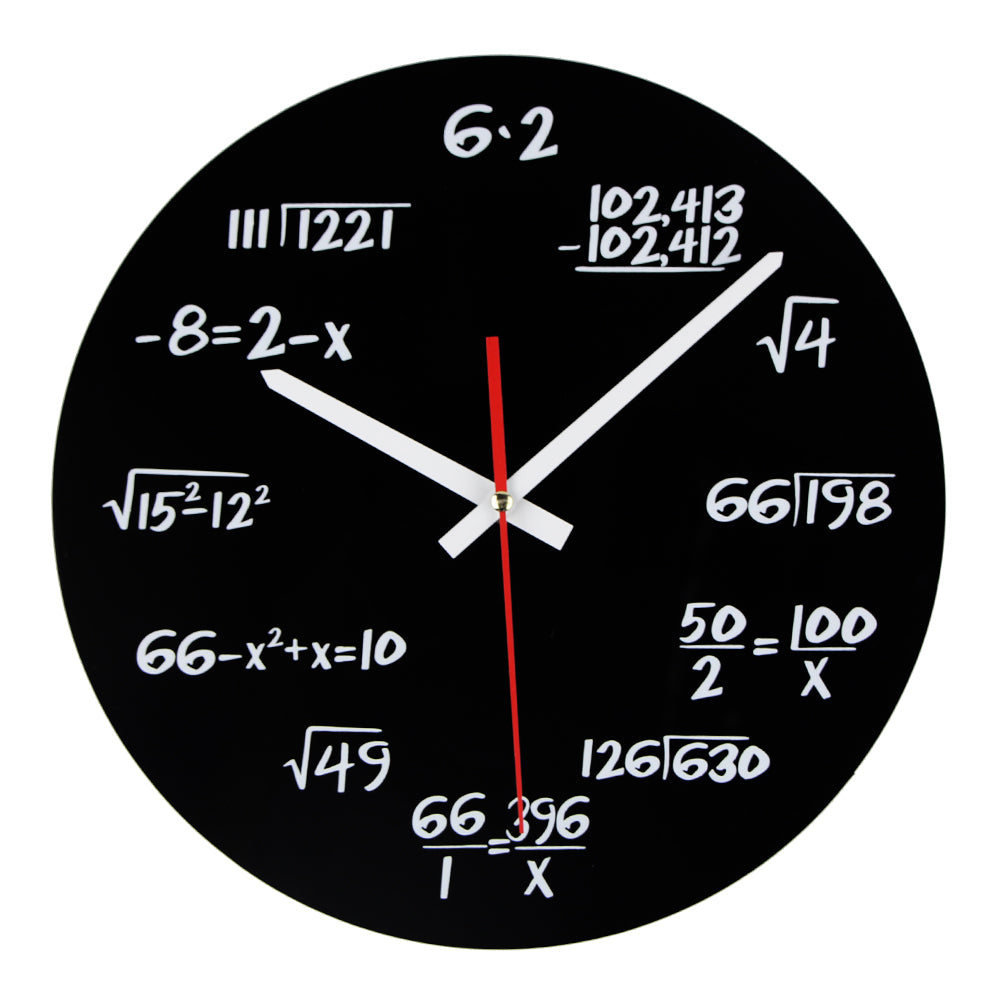 Brainy Kid Math Equations Wall Clock