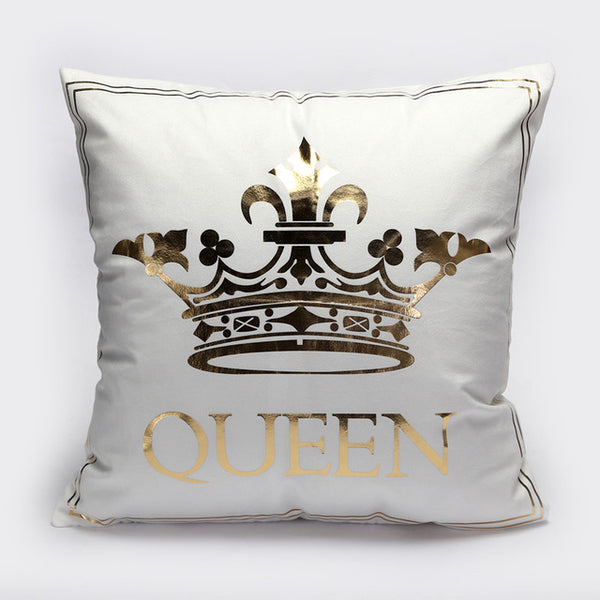 Gold Printed Pillow Decorative Covers (multiple designs)