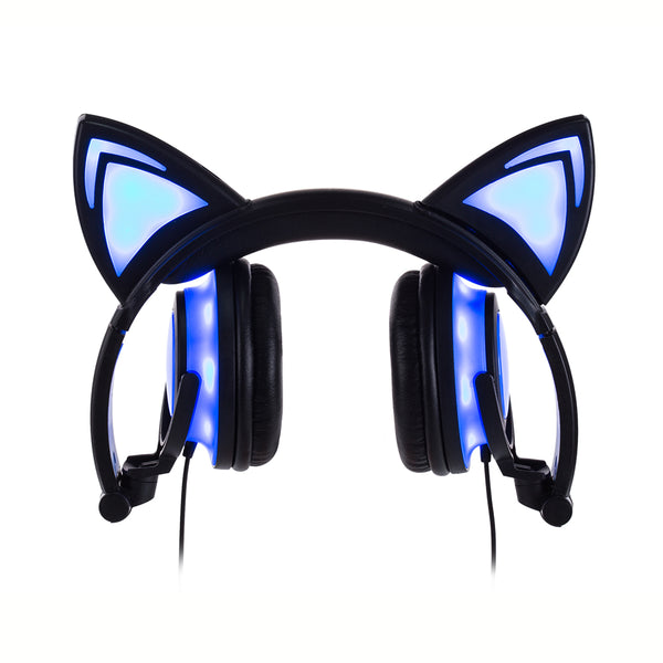 Cat Ears Light-Up Kids headphones