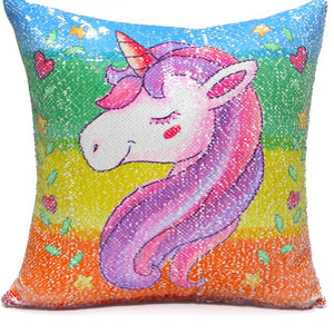 Reversible Sequin Unicorn Decorative Pillow Cover (2 designs)