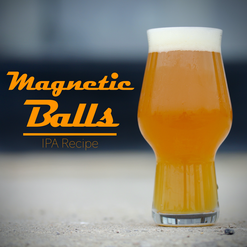 Magnetic Balls Product Photo, an IPA from KJ urban Winery and Craft brewing Supplies