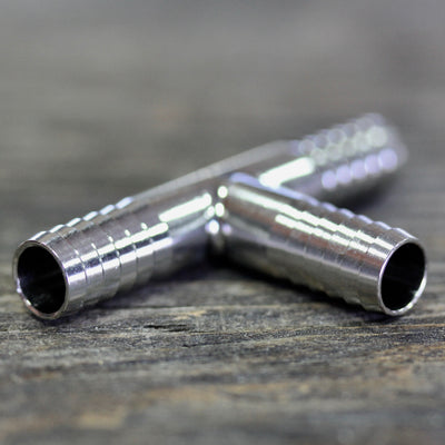 "Barbed Tee 3/8"" - Stainless Steel"