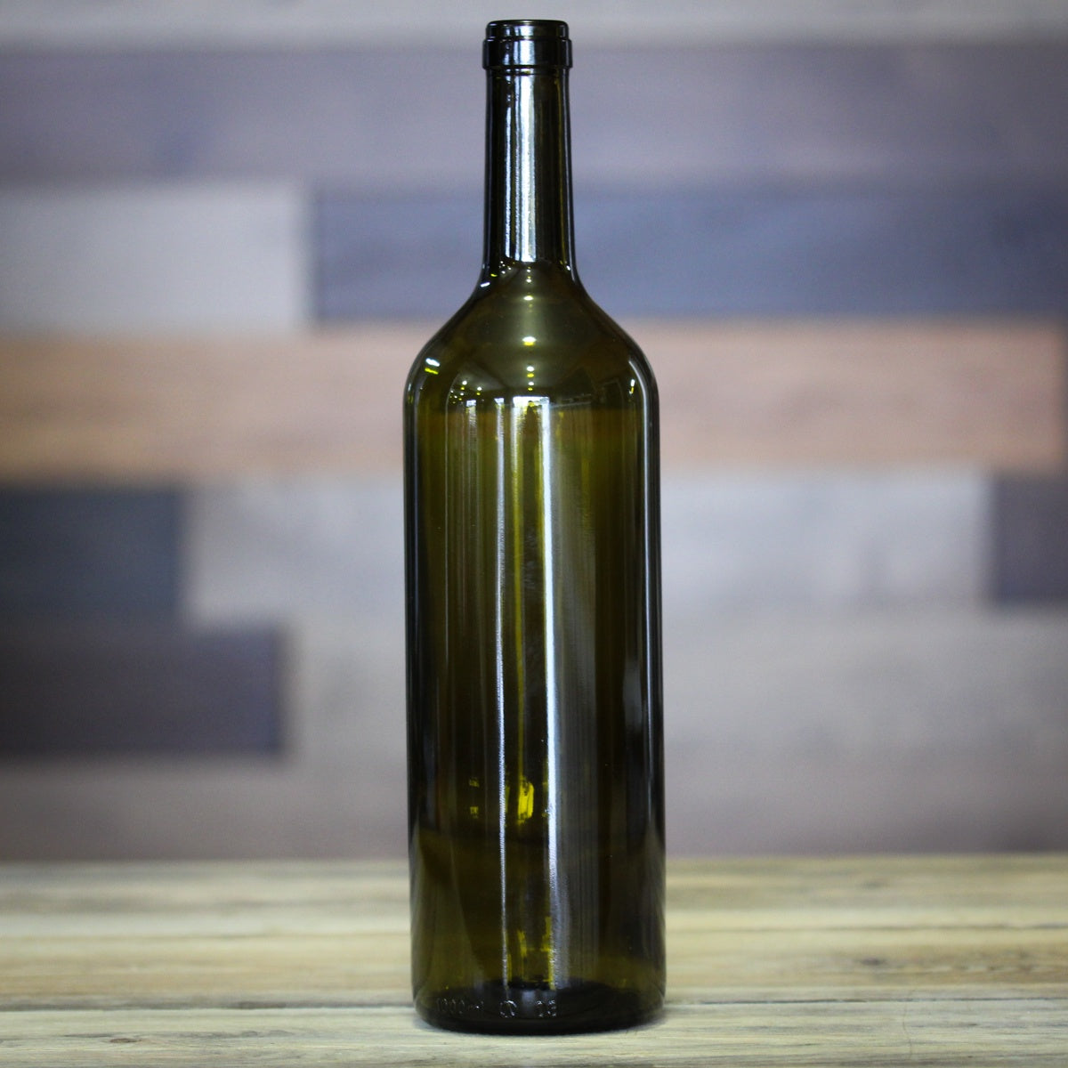 1L Bordeaux Wine Bottles - Green