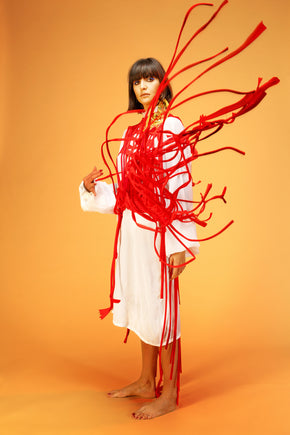 Gauze Shirt Dress by Ahmad Abdullatif