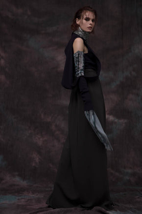 Straight Cut Crepe Skirt by Amir Al Kasm
