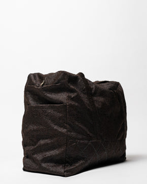 Brown Textured Travel Bag