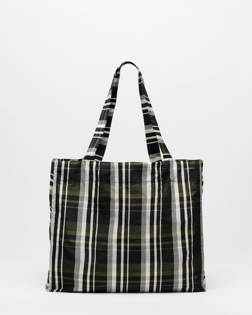 Detachable Checkered Tote Bag
