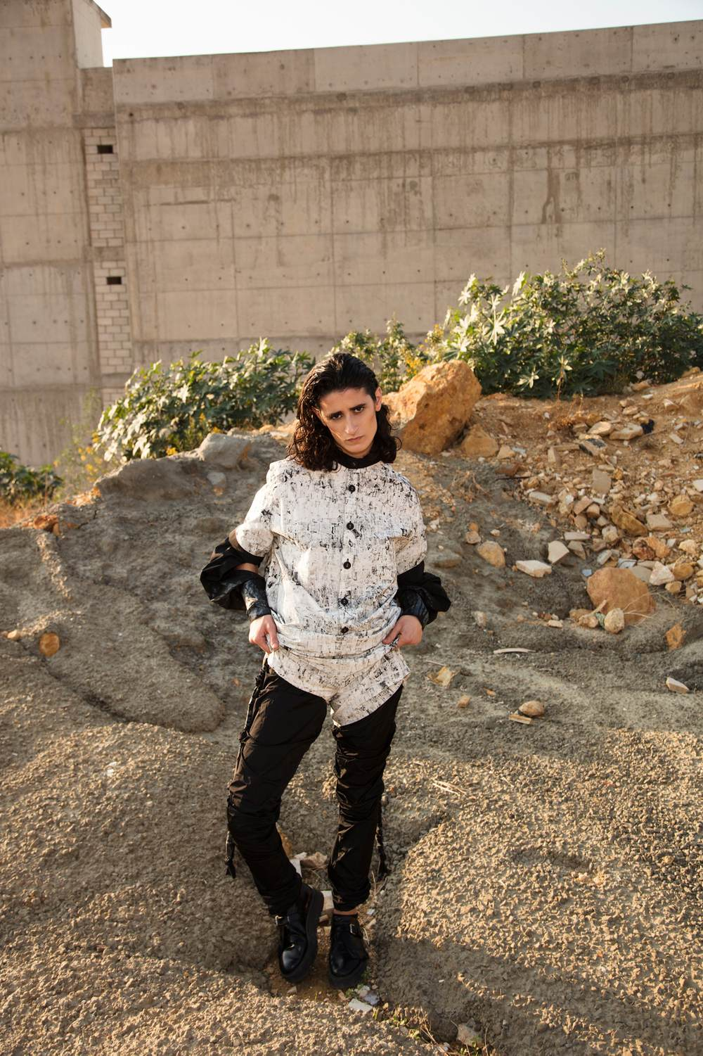 Blocked Stamp Jumpsuit by Hazem Kais