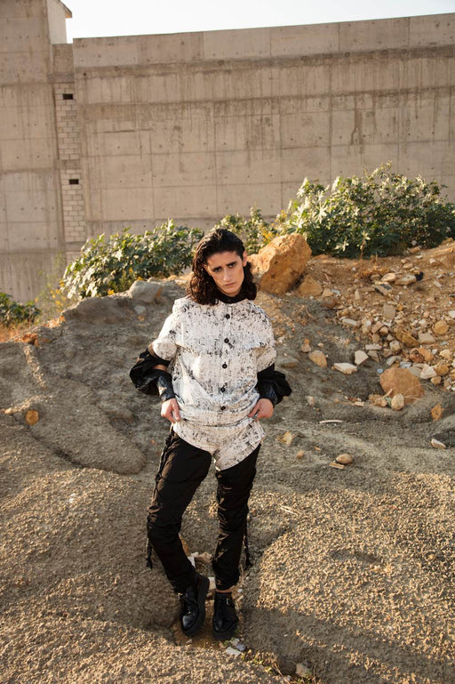 Block Stamped Jumpsuit by Hazem Kais