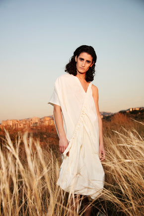Mariam's Drawstring Tube Dress by Hazem Kais
