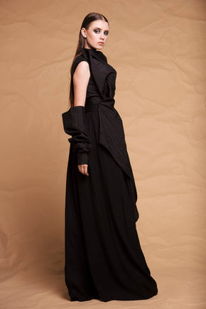 Crepe Pleated Pants by Ibrahim Fakhereldeen