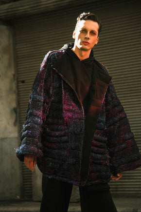 Knit Lace and Lurex Puffer Jacket by Ibrahim Fakhereldeen