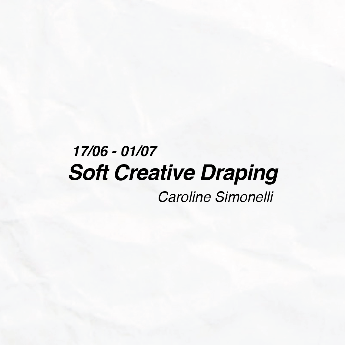 Soft Creative Draping by Caroline Simonelli