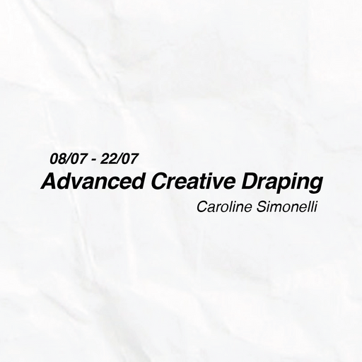 Advanced Creative Draping by Caroline Simonelli