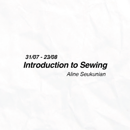 Introduction to Sewing by Aline Seukunian