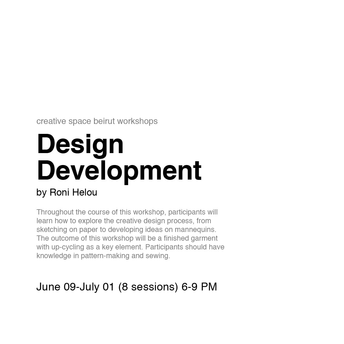 Design Development by Roni Helou