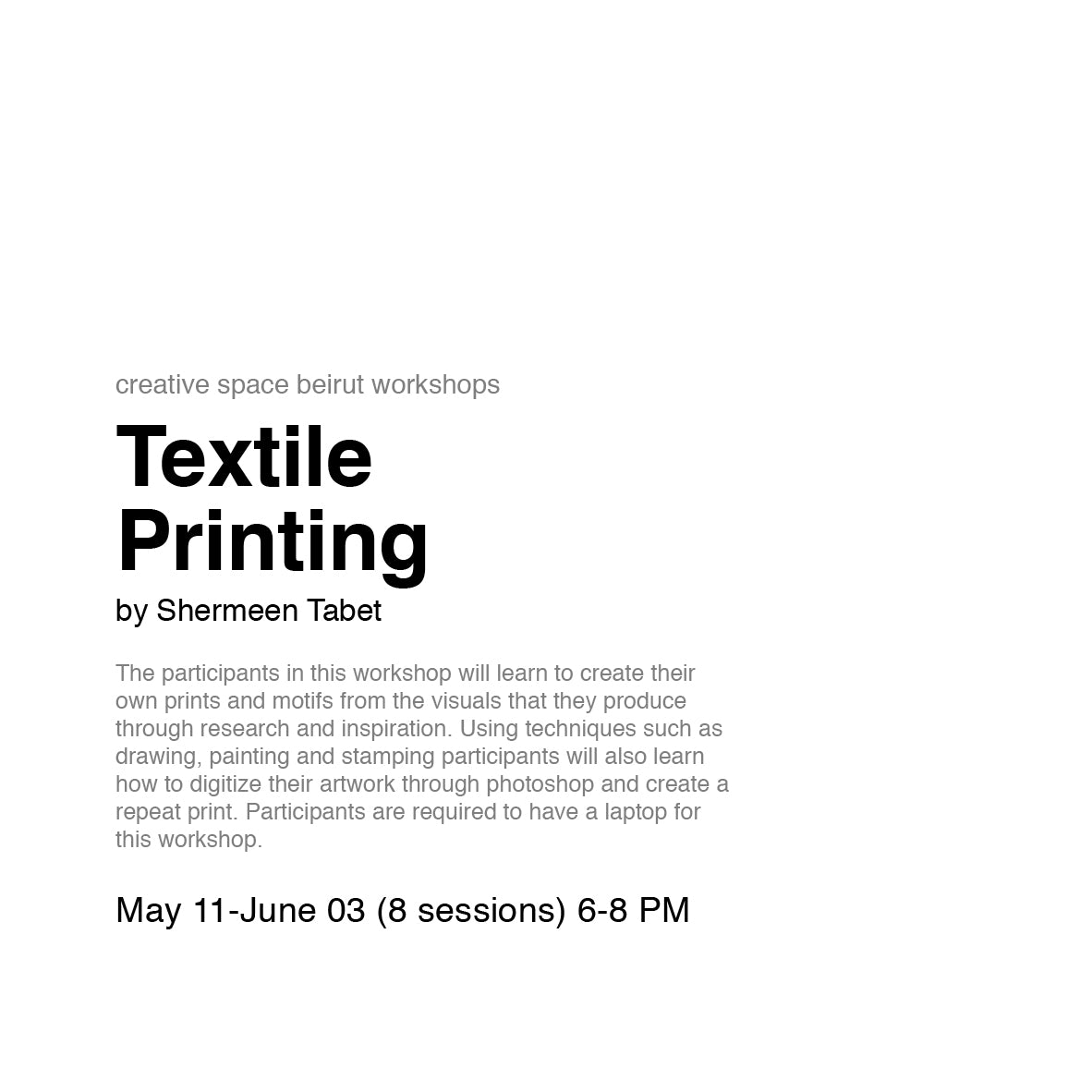 Textile Printing by Shermeen Tabet
