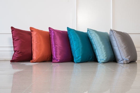 Faux Silk Throw Pillows
