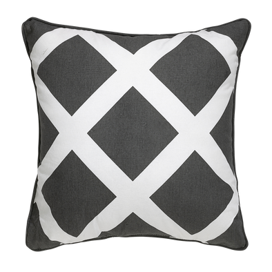 Alexa Grey Geometric Throw Pillow